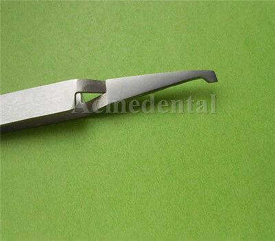 1 X Dental Bracket Placement Tweezer Wide Serrated Tips Brackets Forceps