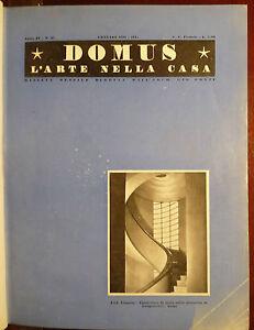 Rivista mensile domus 1931 gio ponti arte arredamento for Arredamento architettura interni