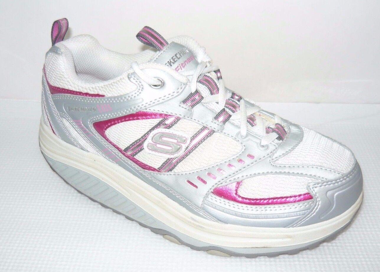 sketchers forme ups blanc / profit femmes tirent profit / rose taille de chaussures de march e de 7, 5 ba7f49