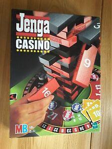 Jenga Casino, MB Spiel ab 18, keine Originalchips, wurden aber ersetzt