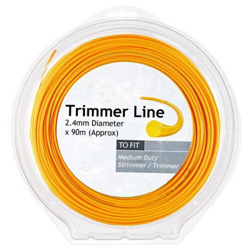 Strimmer Line 90m 2.4mm for RYOBI Easyreel RLT RLT26 PLT PLT2543 Series