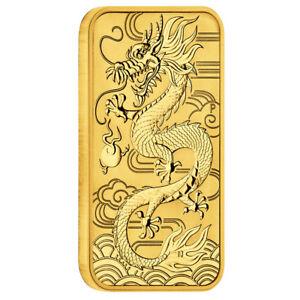 1 oz Gold Dragon 2018 Drache 100 Dollars Australien Barren Prägefrisch