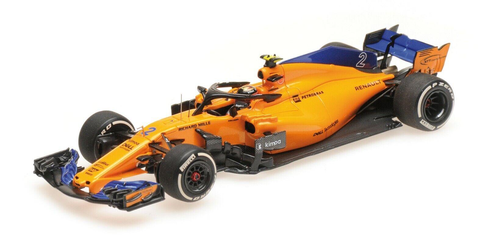 1 43 Minichamps 2018 McLaren Renault MCL33 F1 Stoffel Vandoorne 537184302