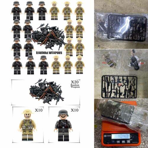 Waffen Minifigur Military Set DE 20X BRITISH GERMAN WW2 Soldaten