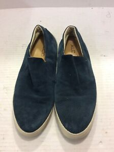 aldo blue suede leather casual shoes slip on mens 11  ebay