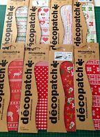 Christmas Decopatch paper quality decoupage festive mache 8 designs 3 sheet pack