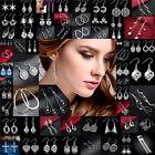 Hot Fashion Women 925 Silver Crystal Rhinestone Ear Stud Drop Earrings