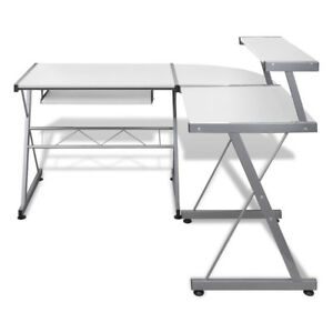 3-Piece-Corner-Metal-Pull-Out-Computer-Table-Desk-with-Keyboard-Tray-Study-Work
