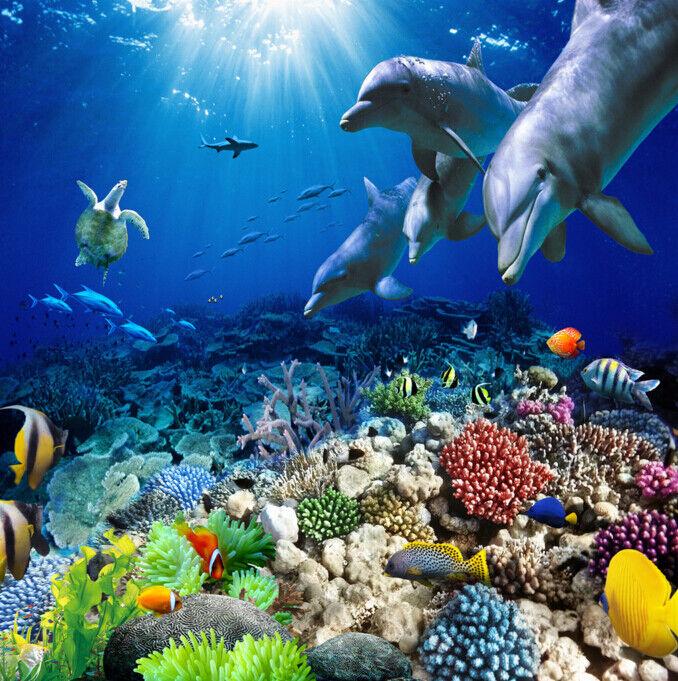 3D Sea Coral Fish 944 Floor WallPaper Murals Wall Print Decal AJ WALLPAPER US