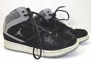 NIKE Details 374452 BOY'SGSSIZE 7Y 1 BLACK SHOES 065 FLIGHT zu AIR JORDAN BASKETBALL SjLpUzMqVG