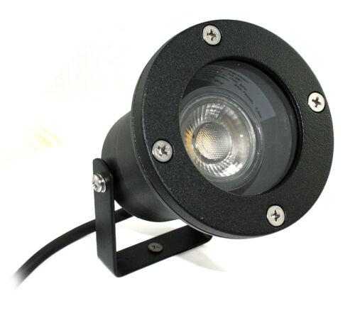 5 watt verre LED COB 1er set ip68 ronde intérieur//extérieur sol installation projecteur incl