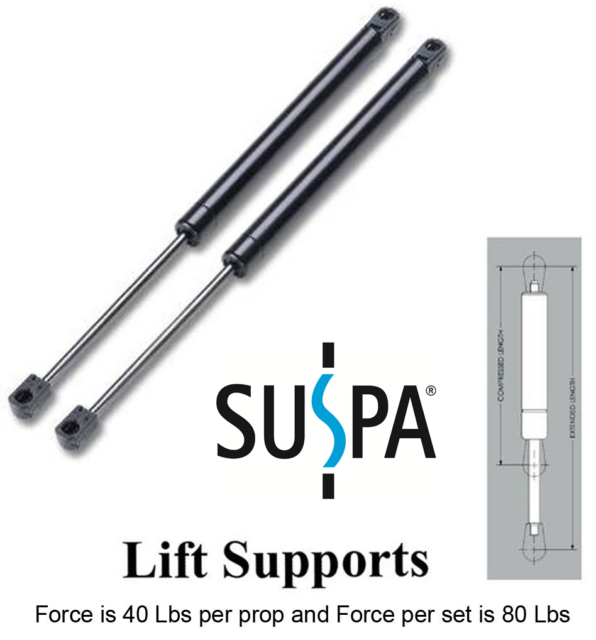Gas Spring shock Strut prop lift truck top 40 LB 36 in A PAIR 2