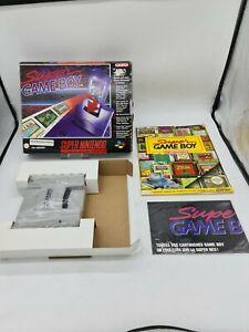 RARE NEW SUPER Nintendo SNES Gameboy Game boy BoxedBOITE OVP EUR  ADAPTATEUR