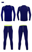 Mens Thermal Compression Base Layer Winter Under Wear Long Sleeve Shirts+pants Q