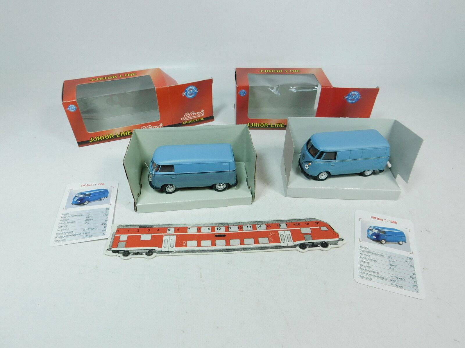 BB233-1  2x Schuco Junior Line 1 43 Volkswagen Bully T1  27004+27174, NEUW+OVP  | Modern Und Elegant