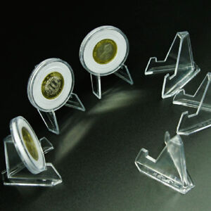Clear-Acrylic-Badge-Medal-Coin-Minerals-Cards-Display-Bracket-Stand-Holder-Easel