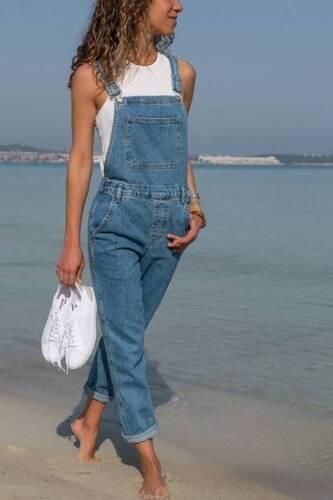 figura completo allentato salopette jeans della denim Pantalone intera a in maschile da tuta nCWxwO1wX