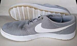 640d281b8eb70d Nike SB Portmore Ultralight Men Skate Shoes 8.5 Wolf Grey White ...
