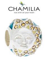 Genuine CHAMILIA 925 sterling silver, enamel & Swarovski SUNSHINE SKY charm bead
