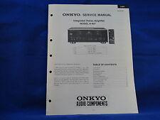 Onkyo A-807 Amplifier Service Manual