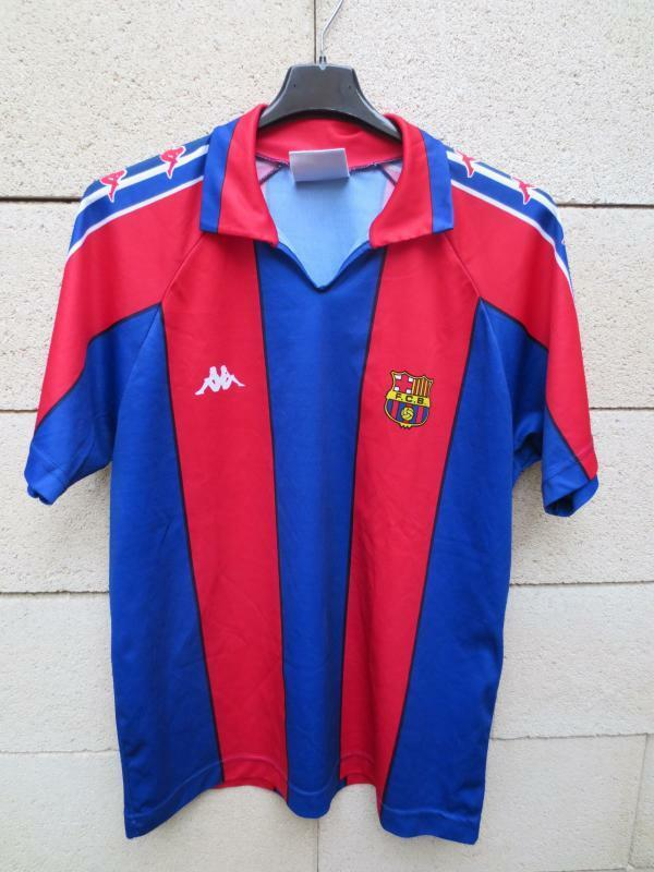 VINTAGE Maillot BARCELONE BARCELONA camiseta KAPPA shirt S collector