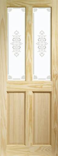 CLEAR PINE VICTORIAN 4 PANEL BI-FOLD GLASS DOORS