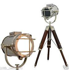 Vintage Designer Nautical Tripod Floor Lamp Industrial Searchlight Floor Lamp