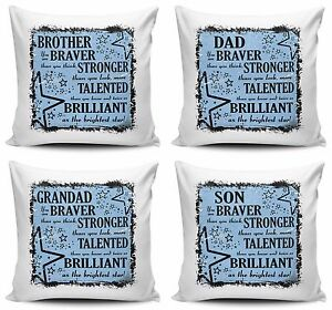 Details about You Are Braver Than You Think, Stronger Than You Look Cushion  Cover - Male