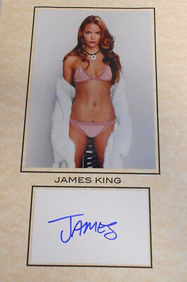 8.5 X 11 Total Size W/coa Hand Signed Card W/photo Earnest Jaime King