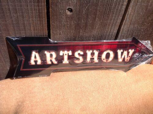 "Artshow This Way To Arrow Sign Directional Novelty Metal 17/"" x 5/"""