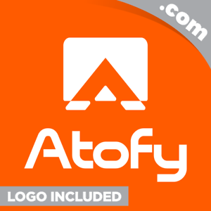 Atofy-com-is-a-cool-brandable-domain-for-sale-Godaddy-PREMIUM-LOGO-5-Letter