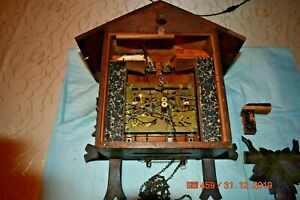 Antique Cuckoo clock for parts or for project