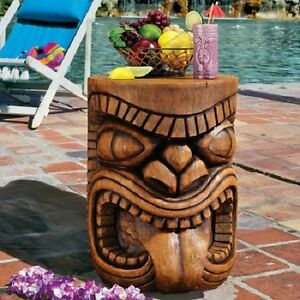 Image Is Loading Poolside Cocktail Table Tiki Tongue Sculpture Hawaii Decor