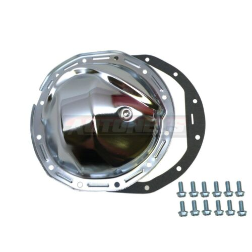 """GM Chevy Chrome Steel Rear Differential Cover 8.875/"""" 8-7//8/"""" Ring Gaskets 12 Bolt"""