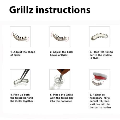 Men/'s Grillz Fashion 14K Gold Plated Diamond Cut Top Tooth Cap L 001 G C2