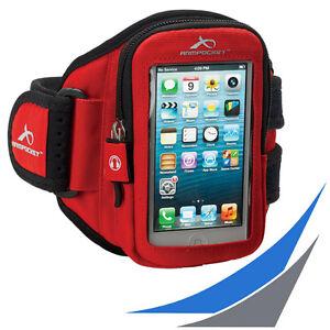 fuer-Smartphones-ARMPOCKET-AERO-i-10-Red-Sportarmband