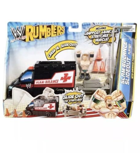 WWE RUMBLERS SLAM-BULANCE SLIDEOUT PLAYSET WITH SHEAMUS FIGURE BRAND NEW!