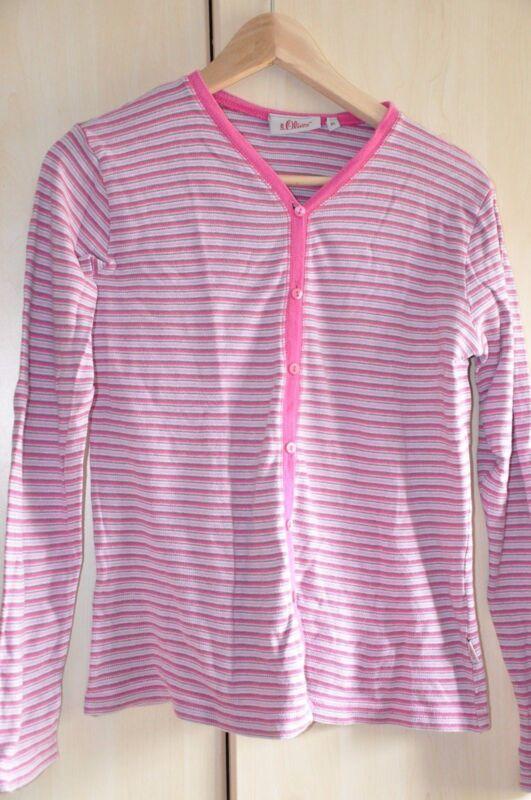 Sweatjacke Jacke Pink, Rosa Gestreift S. Oliver Gr. Xl 176 Weich Und Rutschhemmend