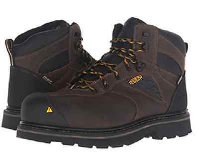 557cc63adab New KEEN Utility Mens Tacoma Soft Toe WP Work Boot Cascade Brown Size 7 W    eBay