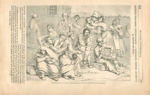 La-maison-de-Fous-Tableau-de-Wilhelm-von-Kaulbach-par-Metz-Graveur-GRAVURE-1836