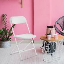 10pcs Commercial White Plastic Folding Chairs Stackable Picnic Party Restaurant