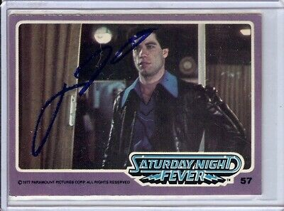 Autographs-original John Travolta Signed Autographed Trading Card Saturday Night Fever 57 Jsa U99017 Cards & Papers