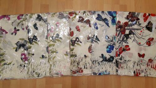 Joblot 12 pcs Butterfly Design scarf NEW wholesale 70x200 cm lot D