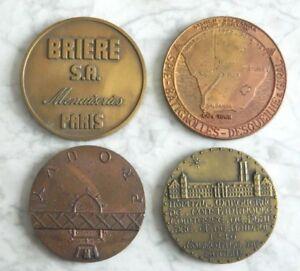 LOT DE 4 MEDAILLES EN BRONZE - France - EBay 5 Lot de 4 médaille en bronze Diamtre : de 6,2 cm 6,9 cm Ref : 15500. INFORMATION IMPORTANTE :Les frais d'envois peuvent varier en fonction du prix atteint et de la destination de l'objet.Tout objet dont le prix dépasse 30 Euros sera expé - France