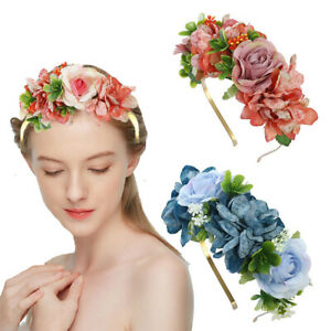 Women-Flower-Headband-Crown-Garland-Hair-Hoop-Wreath-Hairband-Bridal-Accessories