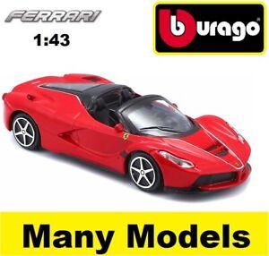 Bburago-Ferrari-Race-amp-Play-1-43-escala-Diecast-Modelo-Coche-Regalo-Juguete-Muchos-Modelos