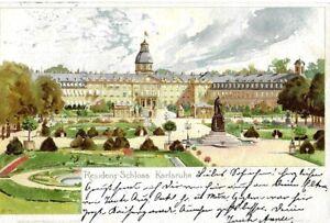 alte A.K. KARLSRUHE - Residenz Schloss - Litho - 1899 gelaufen !!! - default, Österreich - alte A.K. KARLSRUHE - Residenz Schloss - Litho - 1899 gelaufen !!! - default, Österreich