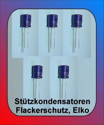 16 Volt 5 x Elko stützkondensator flackerschutz 470 µF