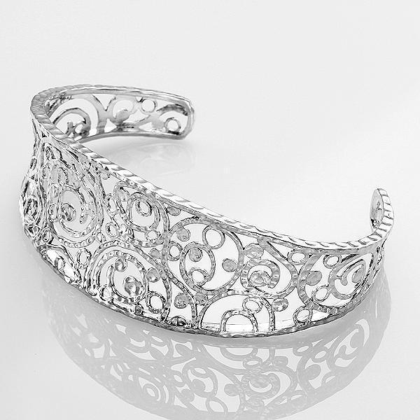 New Hammered Filigree Cuff Bracelet