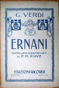 verdi ernani libretto